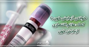 خواندن آزمایش خون با کمک علائم اختصاری آزمایش خون