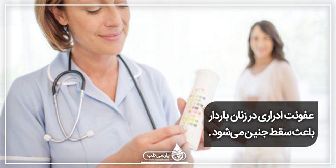 عفونت ادراری در زنان باردار باعث سقط جنین میشود .