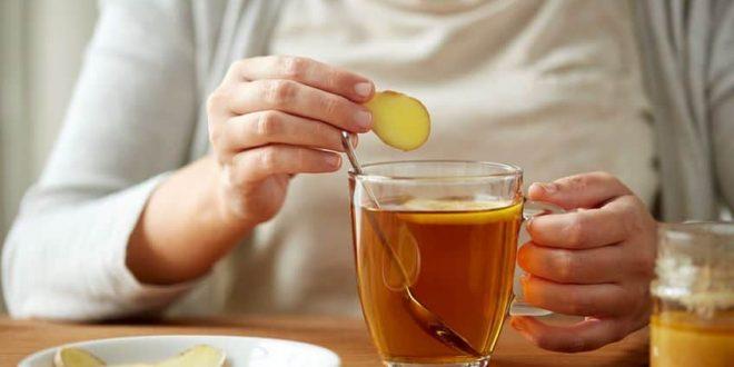 نتیجه تصویری برای چای زنجبیل دمنوش سرماخوردگی