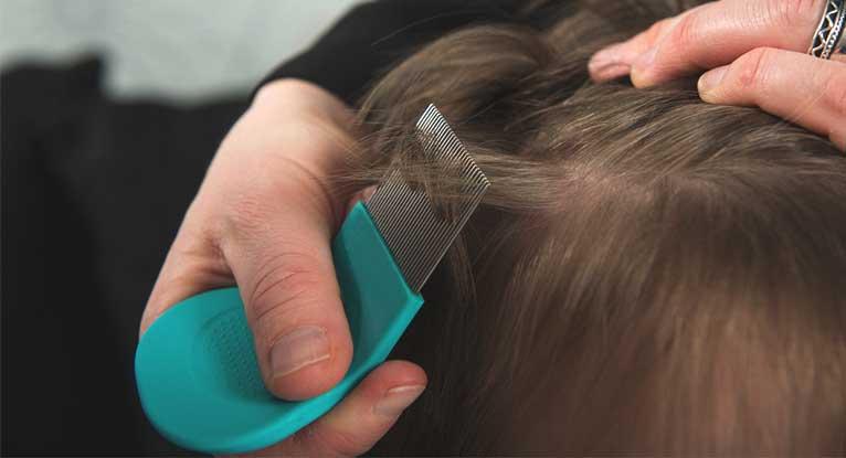 شانه فلزی برای از بین بردن شپش در مو