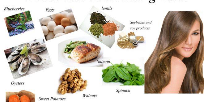 غذاهای مفید برای تقویت موها