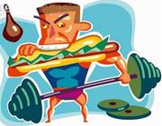 بلافاصله قبل و بعد از ورزش، غذا نخورید