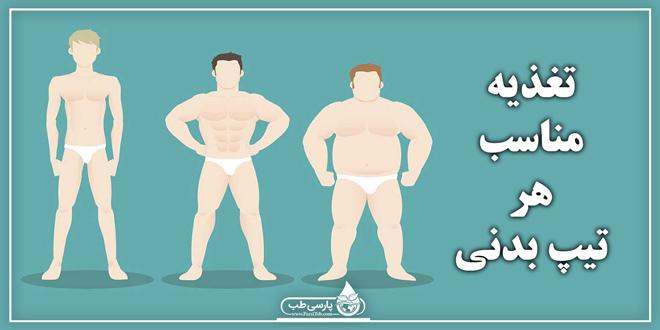 بدن شما کدام یک از انواع تیپ بدنی می باشد ؟