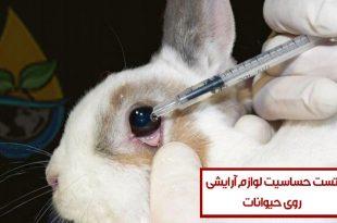 شرح کامل تست حساسیت لوازم آرایشی بهداشتی بر روی حیوانات (Draize Test)