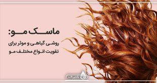 ماسک مو: روشی گیاهی و موثر برای تقویت انواع مختلف مو