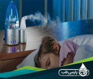 افزایش رطوبت محیط و کاهش سرفه کودکان