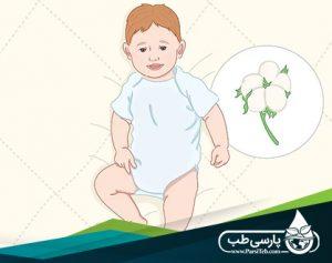 لباس پوشیدن نوزاد در خانه